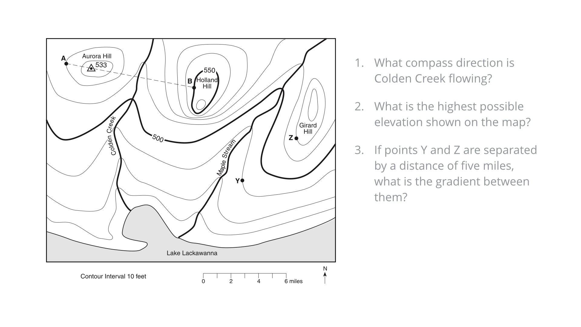 regents earth science at hommocks middle school topographic maps lab 2. Black Bedroom Furniture Sets. Home Design Ideas