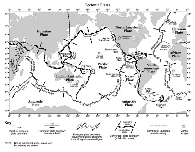 Regents Earth Science At Hommocks Middle School Plate Tectonics